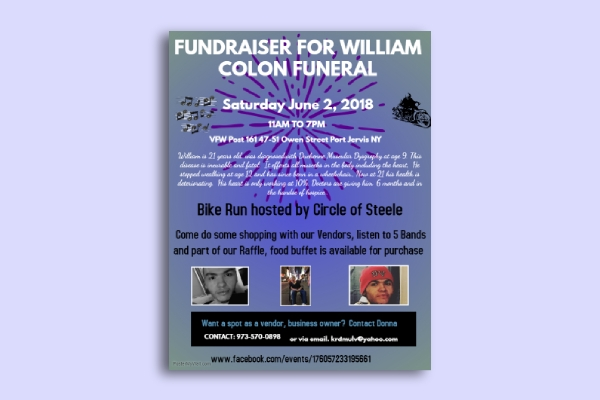 funeral charity poster