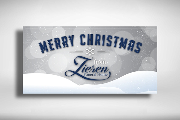 funeral home christmas banner