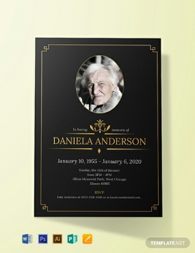 funeral luncheon invitation