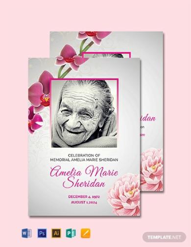 funeral memorial card