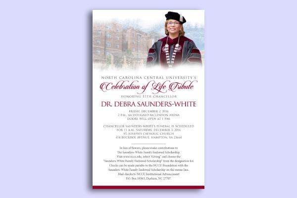 funeral memorial service poster