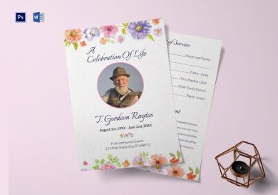 funeral order of service invitation