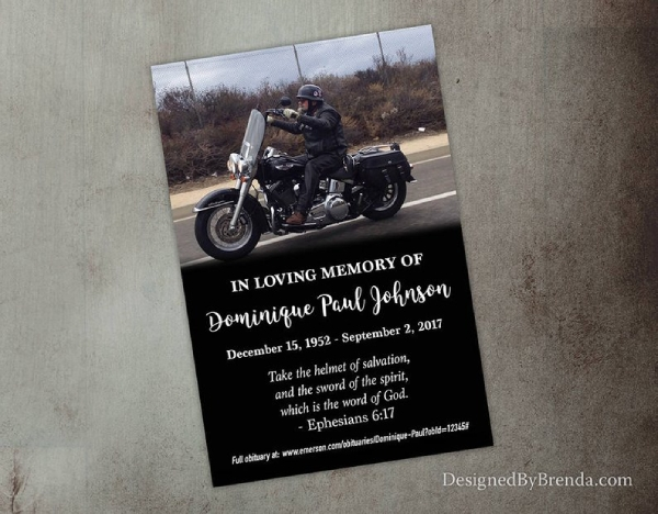 funeral photo postcard