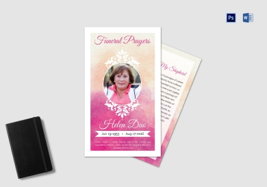 funeral prayer card template for grandmother