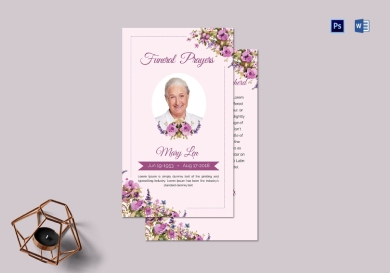 funeral prayer card template for loved ones