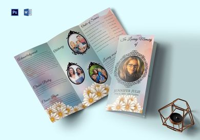 funeral program trifold brochure