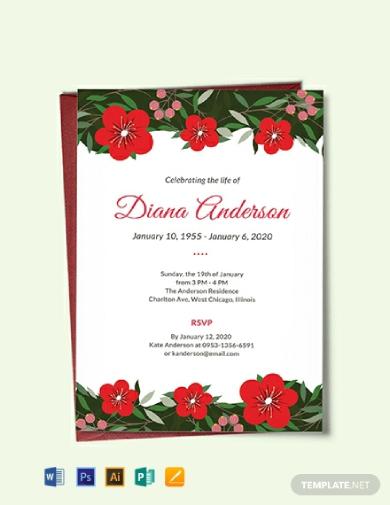 funeral repast invitation