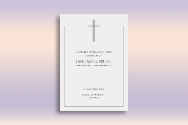 funeral service of thanksgiving leaflet