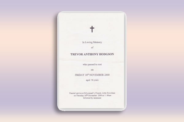 funeral and memorial leaflet