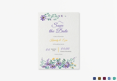 garden save the date card