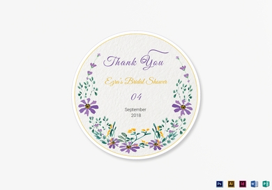 garden wedding label