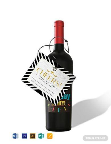 gift wine label
