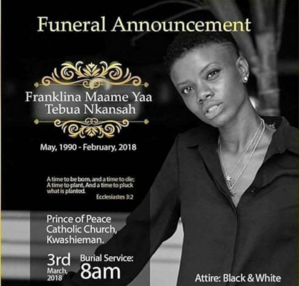 gold and black funeral announcement