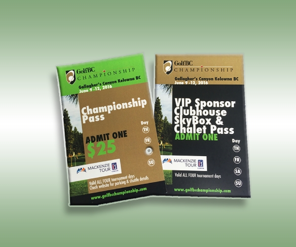 golf championship ticket