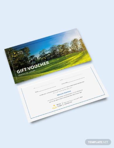 golf gift voucher ticket