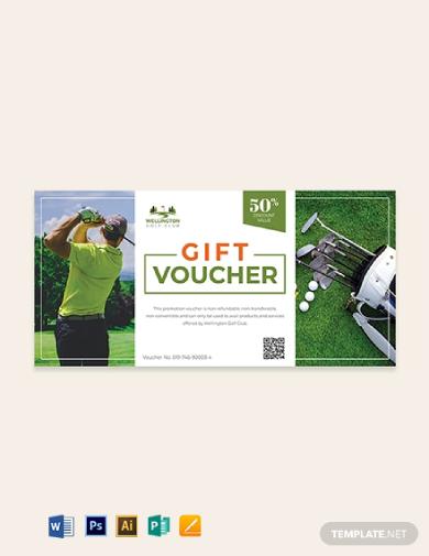 golf voucher ticket