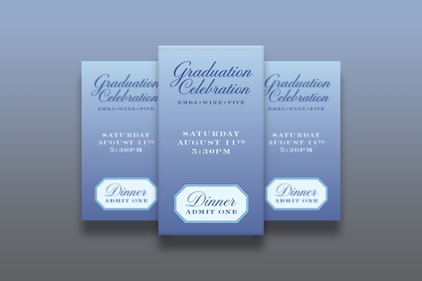 graduation celebration ticket