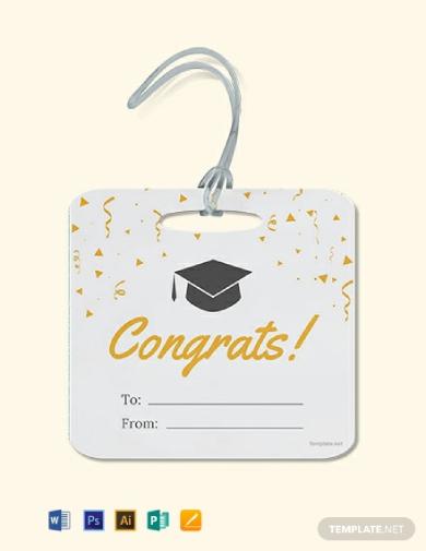graduation gift label