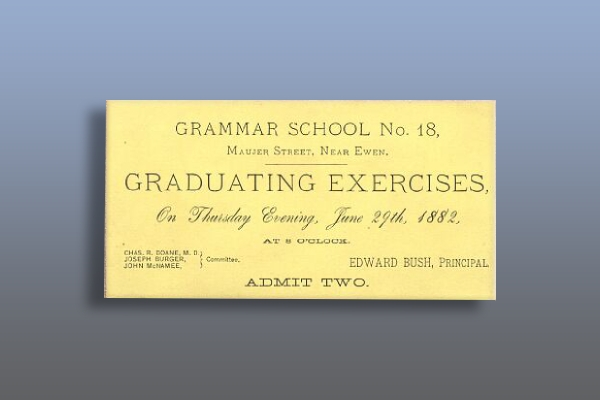 grammar school graduation exercises ticket