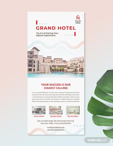 grand hotel rack card