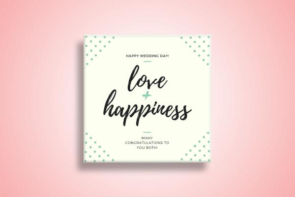 happy wedding day gift card