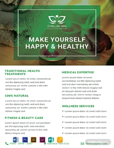 health spa datasheet