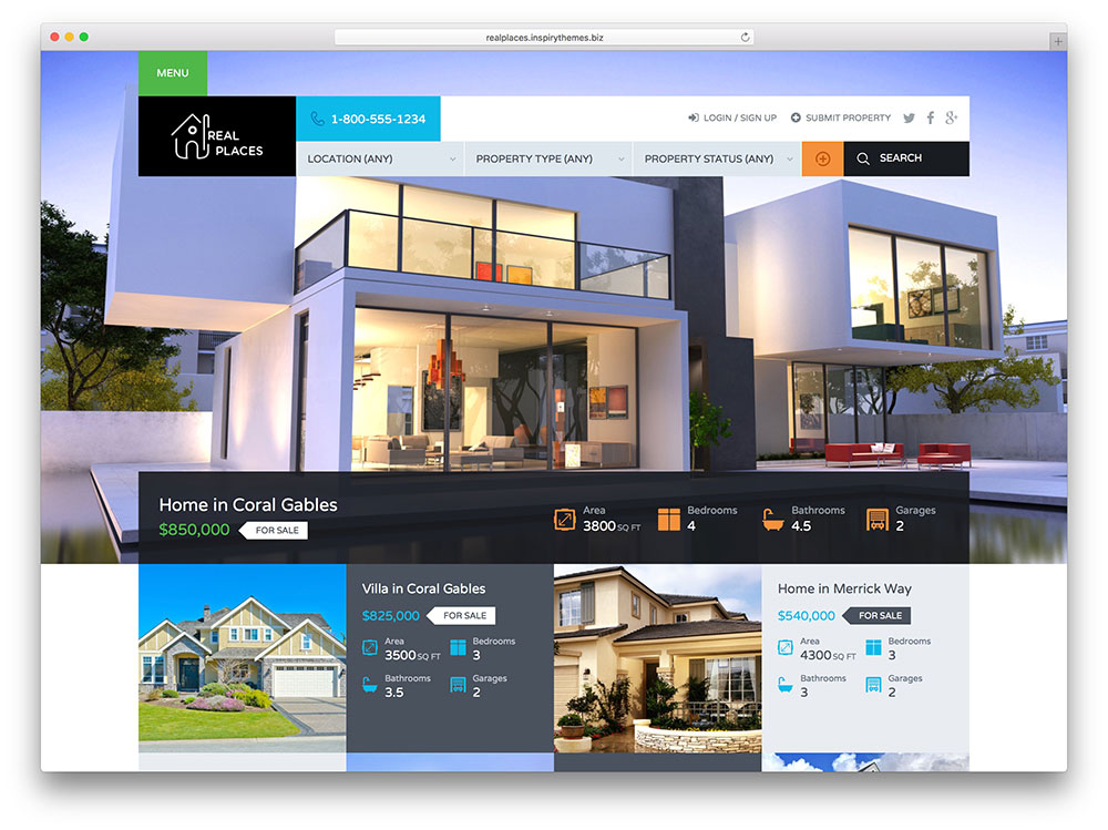 highly compatible commercial real estate wordpress template1