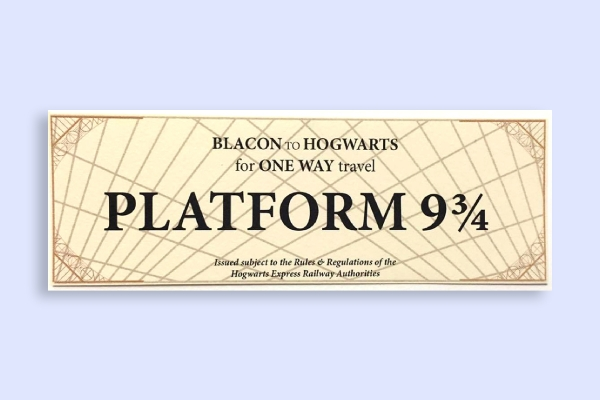 hogwarts express train ticket