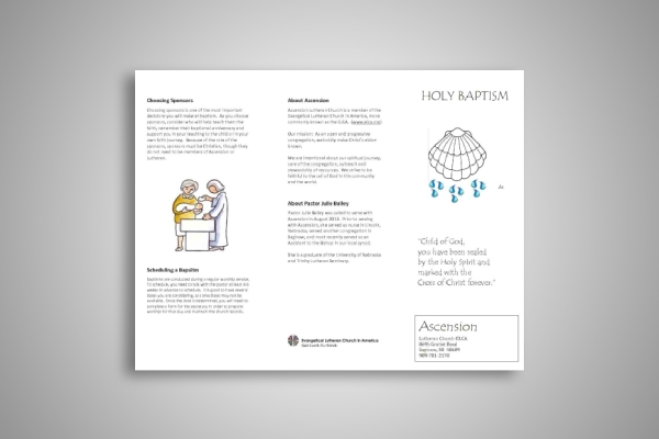 holy baptism brochure