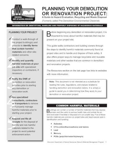 home renovation project checklist
