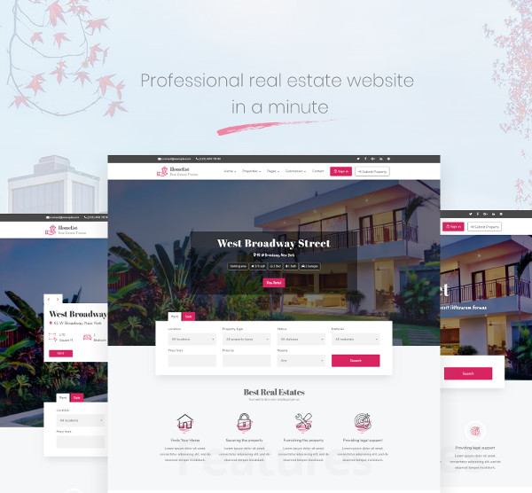 homelist real estate listing wordpress theme