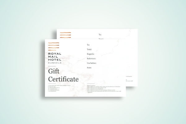hotel gift certificate