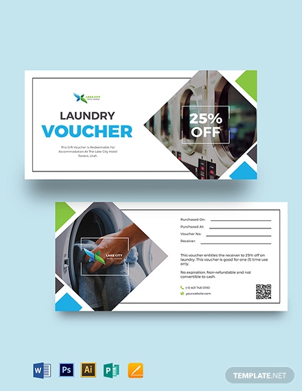 hotel laundry voucher template