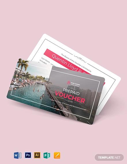 hotel prepaid voucher template