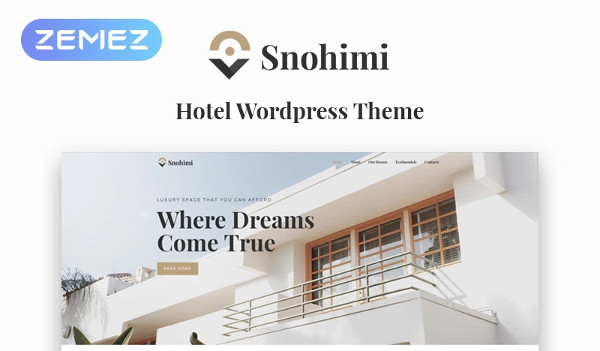 hotel property management wordpress template