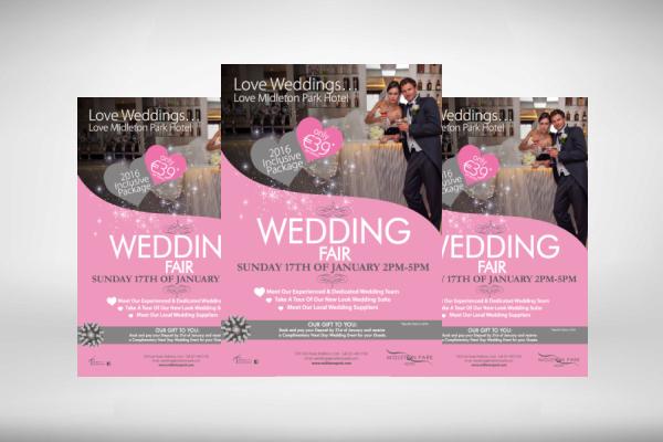 hotel wedding fair flyer