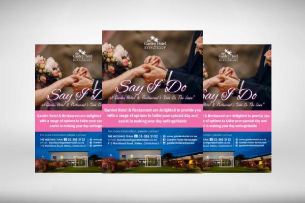 hotel wedding flyer