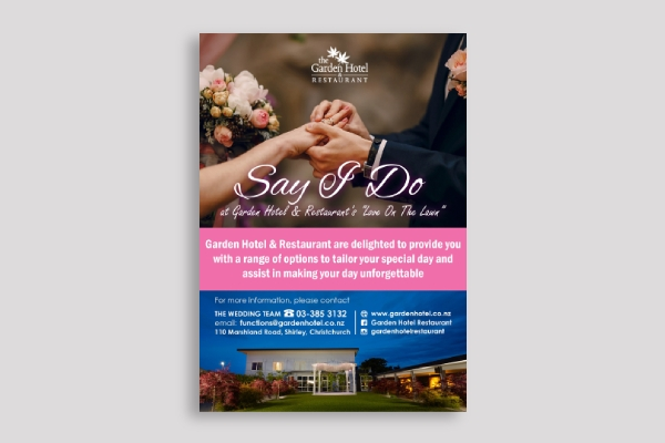 hotel wedding poster
