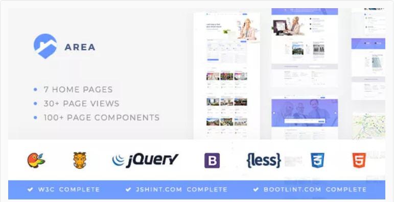 innovative realtor website template