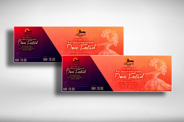 international dance festival ticket