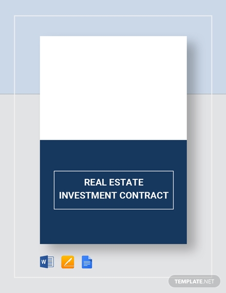 investment real estate contract template