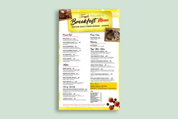 italian breakfast menu