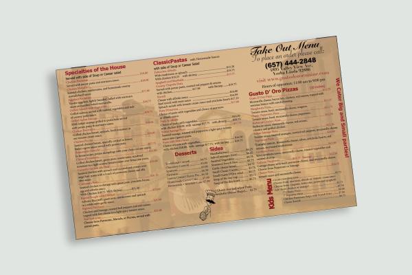italian takeout menu