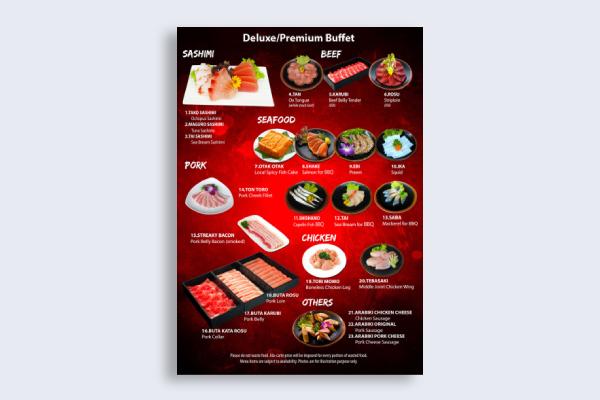 japanese bbq menu