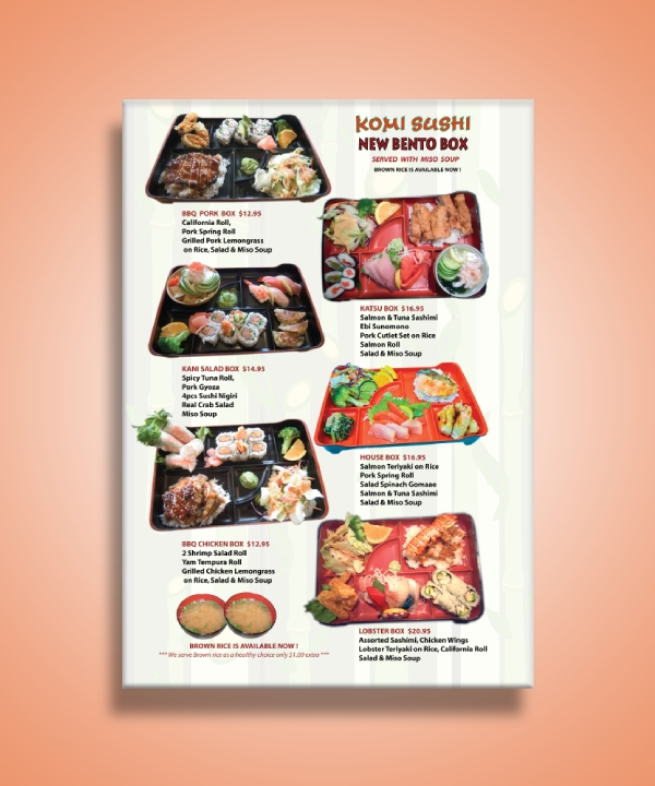 japanese food bento box menu