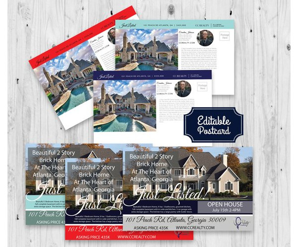 just listed open house postcard sample
