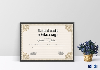 keepsake wedding certificate