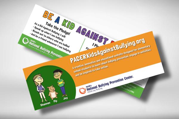 kids against bullying bookmark