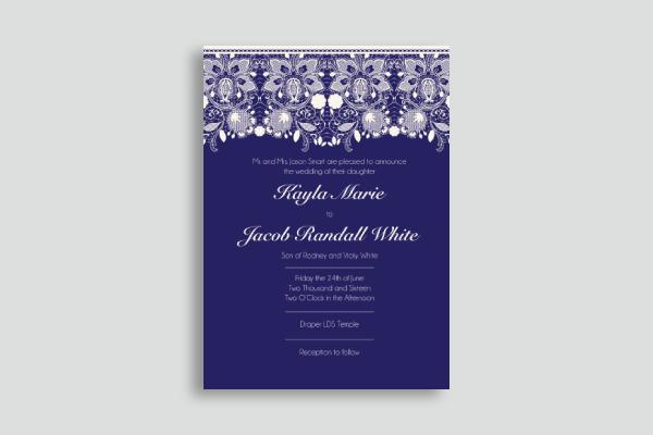 lace wedding announcement