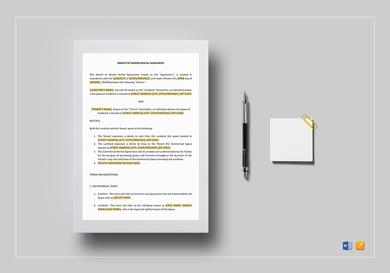 landlord tenant monthly rental agreement
